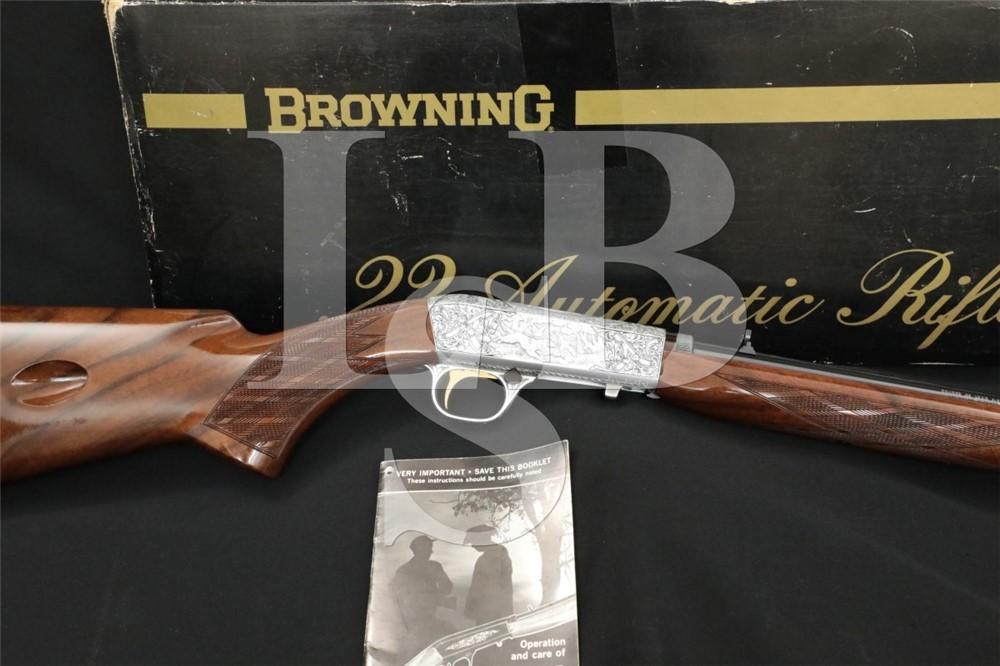 Browning SA22 SA-22 Grade III .22 LR Semi-Automatic Rifle & Box MFD 1977