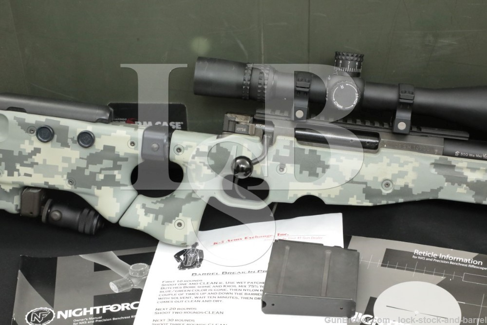 """Accuracy International Model AWM .300 Win Mag 26"""" Bolt Action Sniper Rifle"""