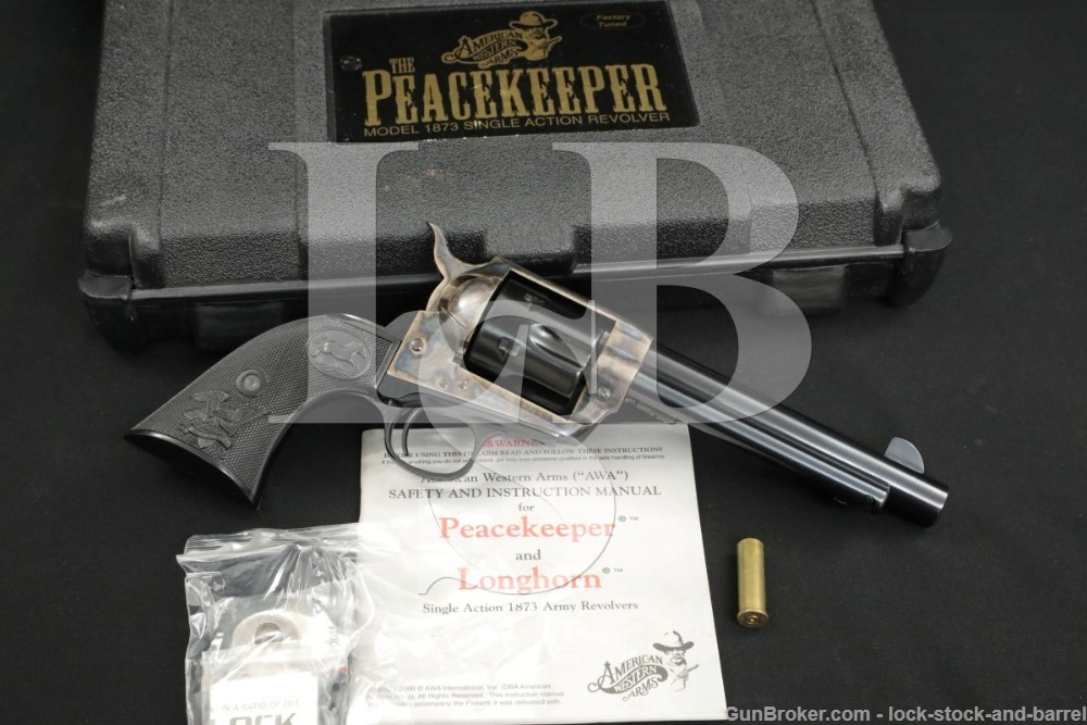 American Western Arms AWA Peacekeeper Mod 1873 M1873 .357 Mag SAA Revolver