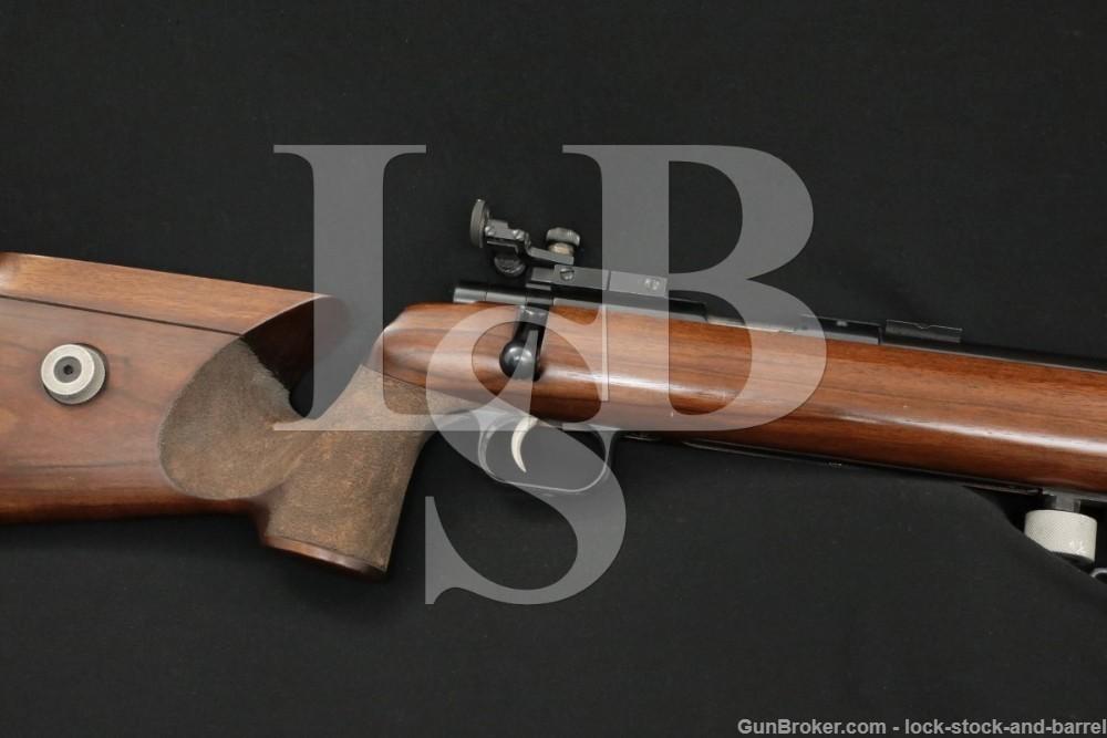 Anschutz Match 54 18MS .22 LR Single Shot Bolt Action Rifle, MFD 1973