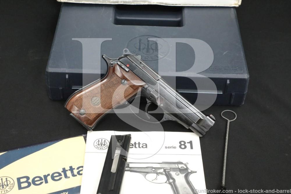 """Beretta 87BB Cheetah .22 LR 3.75"""" Blue Semi Auto Pistol & Box 1989 PO8739B"""