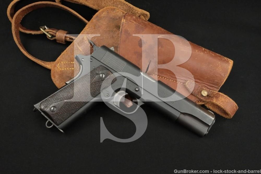 British Colt Government Model 1911 .455 Webley Semi-Auto Pistol, 1919 C&R