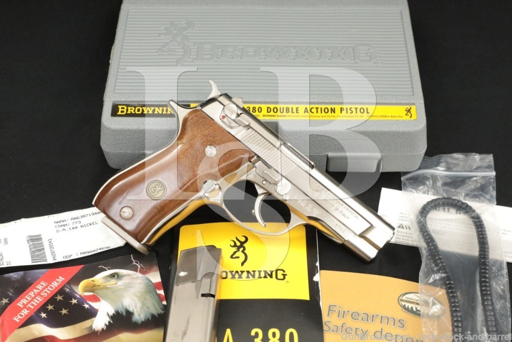 Browning Beretta Model BDA .380 ACP Nickel Semi-Auto Pistol, MFD 2009