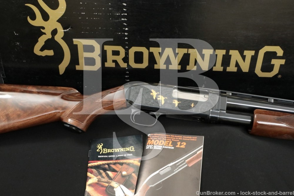 """Browning Miroku Model 12 Grade V Engraved 20 Ga. 26"""" Pump Shotgun, MFD 1989"""