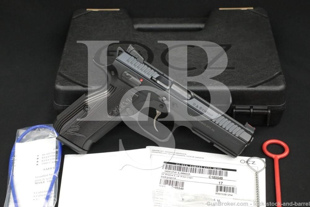 "CZ USA Model Shadow 2 9mm Luger Black 4 5/8"" Semi-Automatic Pistol MFD 2017"