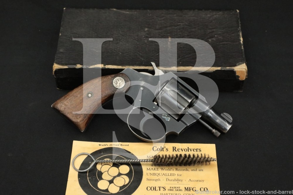 Colt Banker's Special Railway Mail Service RMS .38 S&W Revolver, 1931 C&R