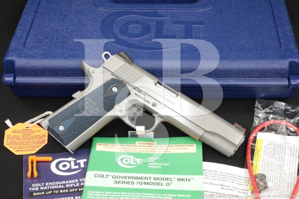 Colt Competition Govt Model Series 70 9mm Luger Semi-Auto Pistol 01072CCS