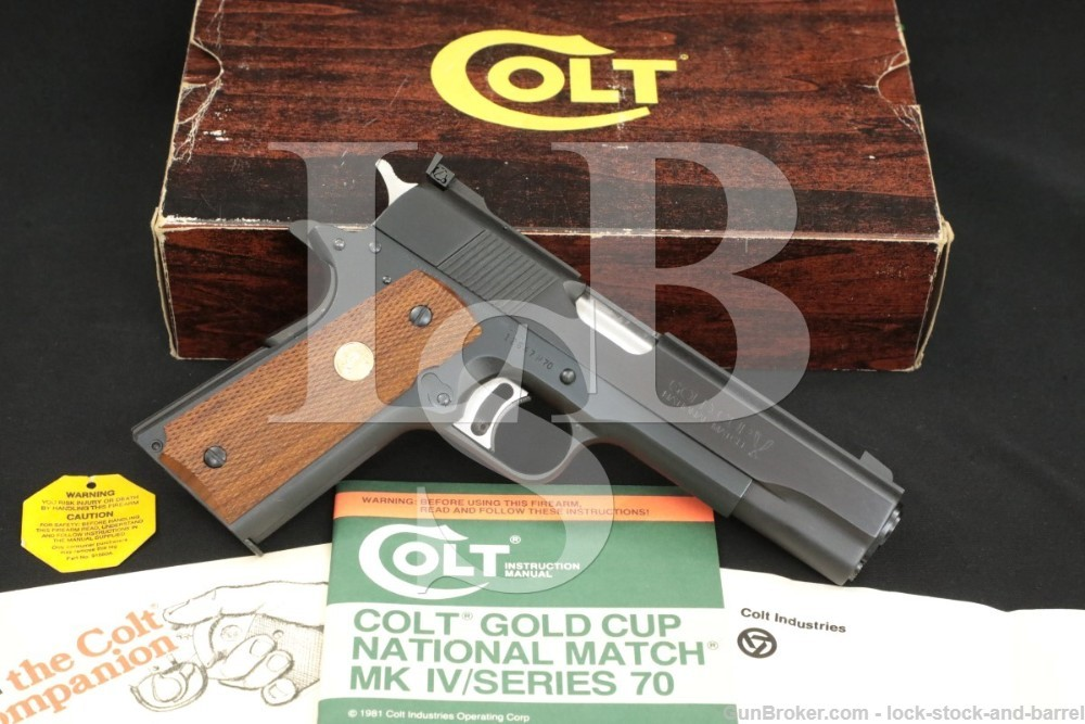 "Colt Gold Cup National Match MK IV Series '70 .45 ACP 5"" 1911 Pistol C&R"