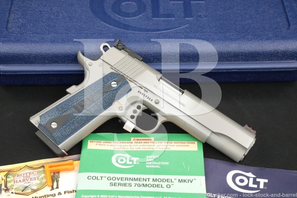 Colt Gold Cup Trophy Government Model .38 Super Semi Auto Pistol 05073GCL