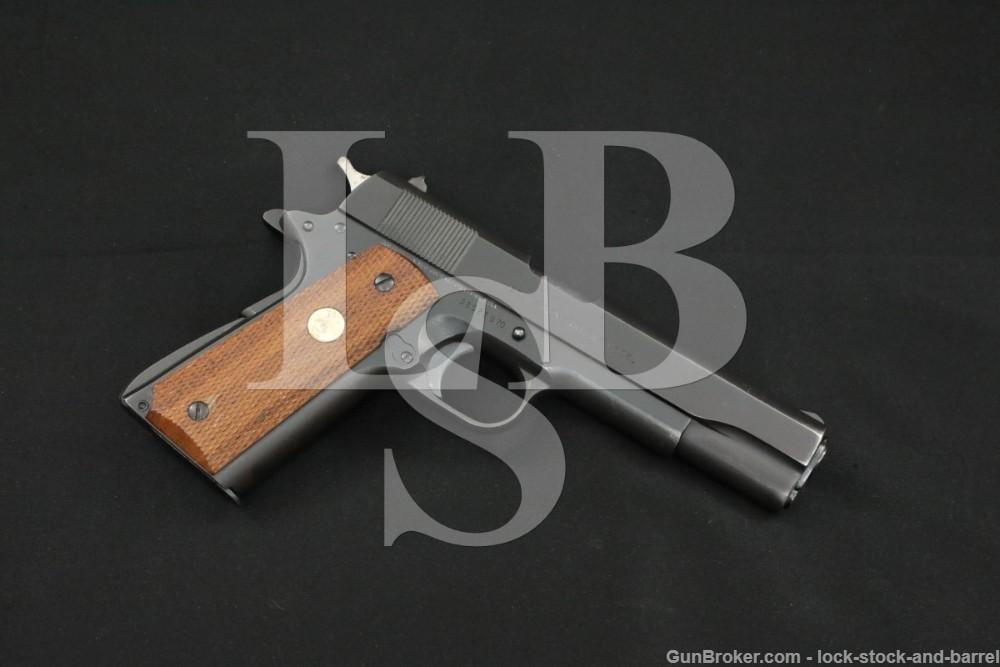 Colt MKIV MK IV MK-IV Series 70 Gov Model .45 ACP Semi Auto Pistol MFD 1980