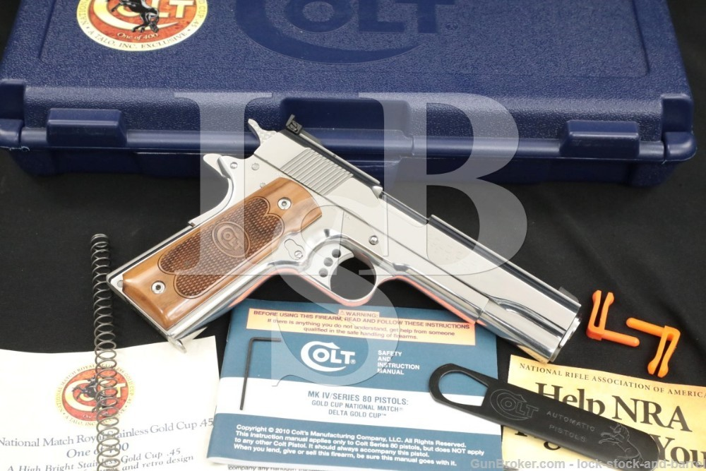 Colt Royal Bright Stainless Gold Cup National Match 1911 05070RSG 1 of 400
