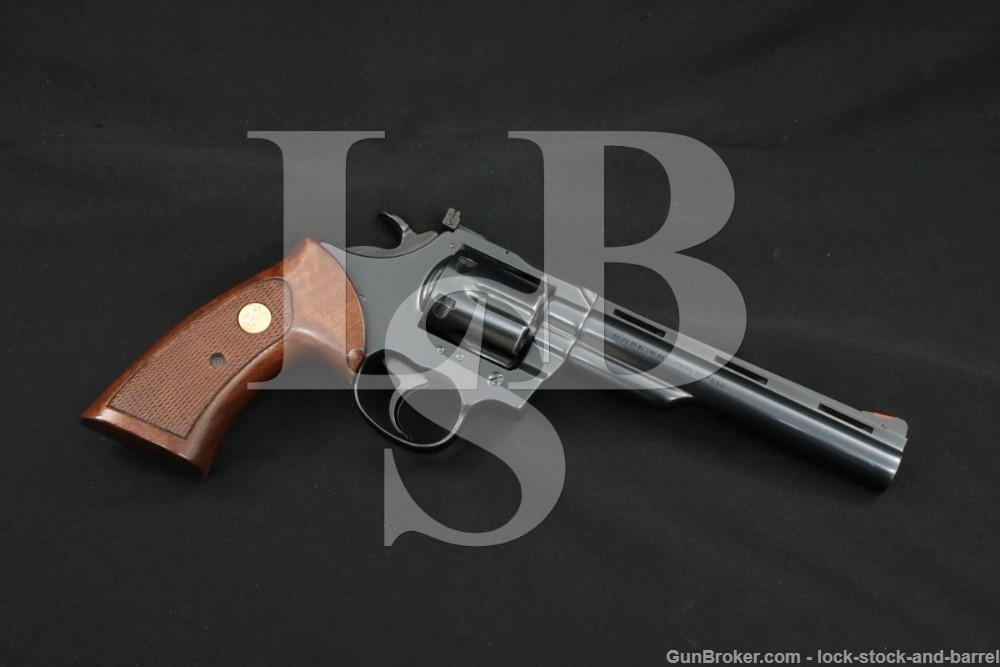 """Colt Trooper MKV .357 Mag 6"""" Vent Rib SA/DA Double Action Revolver MFD 1982"""