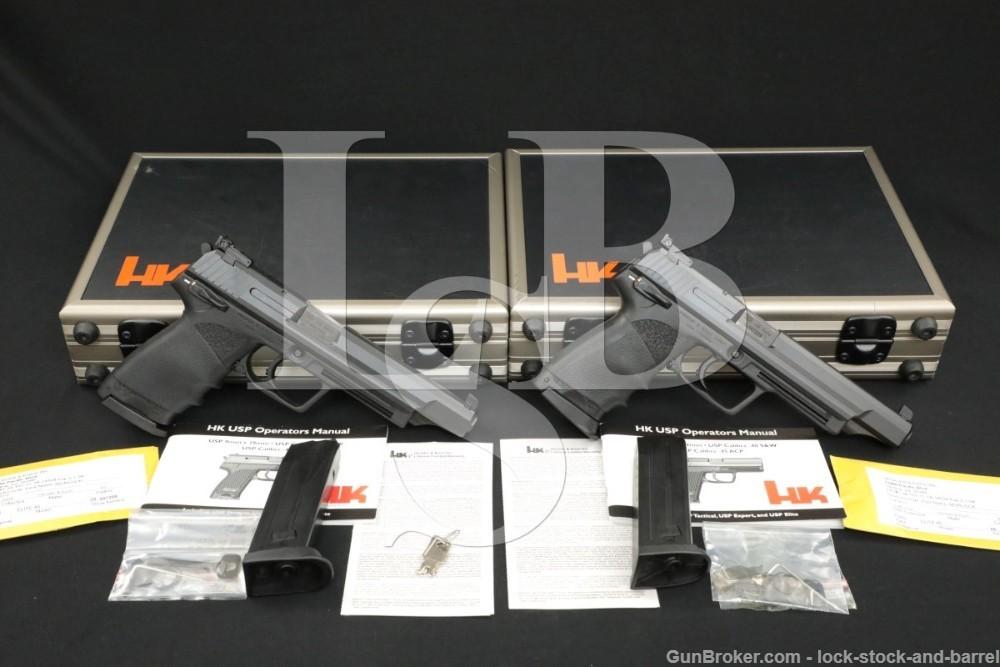 Consecutive Pair Heckler & Koch H&K HK H-K USP45 USP-45 Elite 6″ .45 ACP