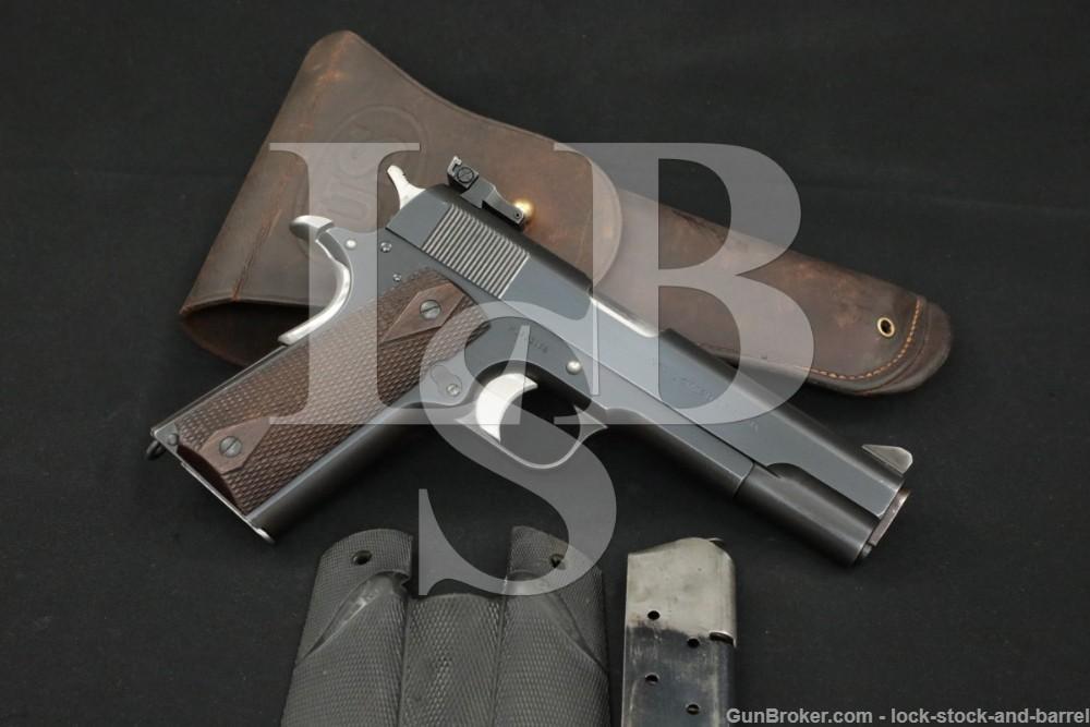 Custom Colt Model of 1911 U.S. Army .45 ACP Semi-Automatic Pistol, 1916 C&R