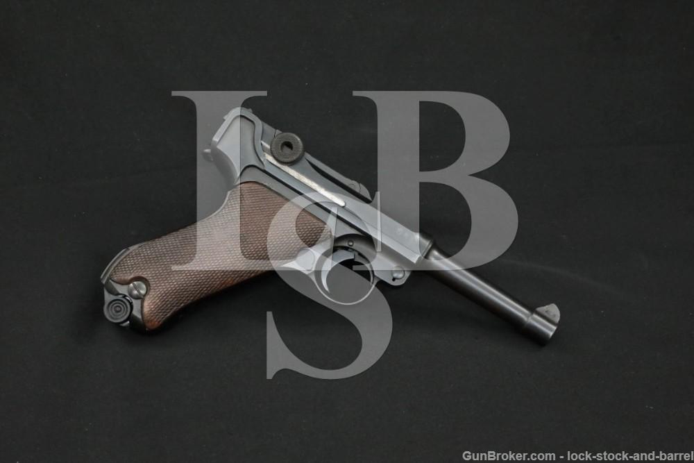 DWM Weimar Prussian Breslau Police Luger P.08 9mm Semi-Auto Pistol 1920 C&R