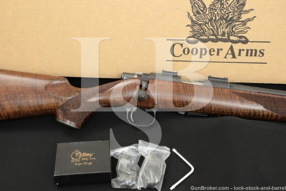 """Engraved Cooper Firearms Model 57-M Classic .22 LR 22"""" Bolt Action Rifle"""