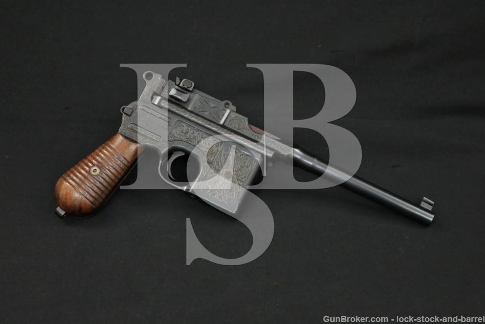Engraved Mauser 1930 Broomhandle Like C96 7.63x25mm 30 Semi-Auto Pistol C&R