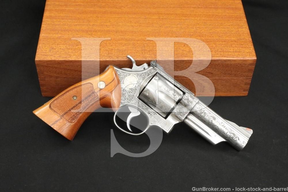 """Engraved Smith & Wesson S&W Model 629-1 .44 Magnum 4"""" DA/SA Revolver 1984"""