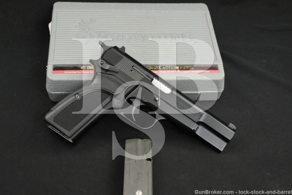FN Browning Portugal Hi Power 40 S&W Black Semi-Auto Pistol, MFD 1993