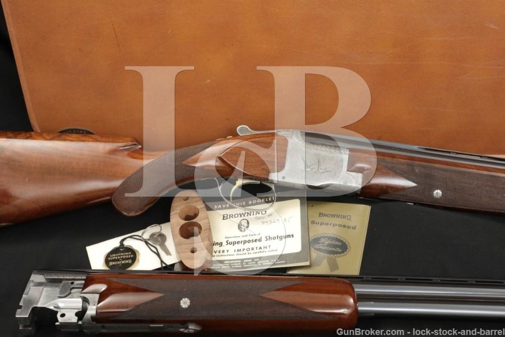 FN Browning Superposed Pigeon Grade Engraved 12 Ga Over Under Shotgun, C&R