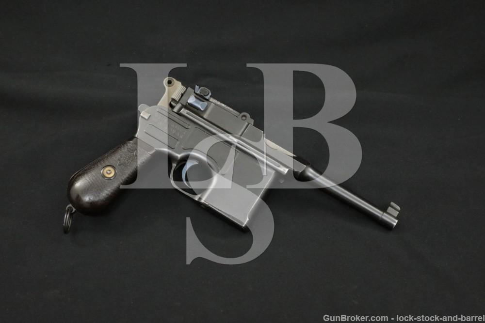 French Gendarmerie Mauser C96 Broomhandle 7.63mm Semi-Auto Pistol, 1922 C&R