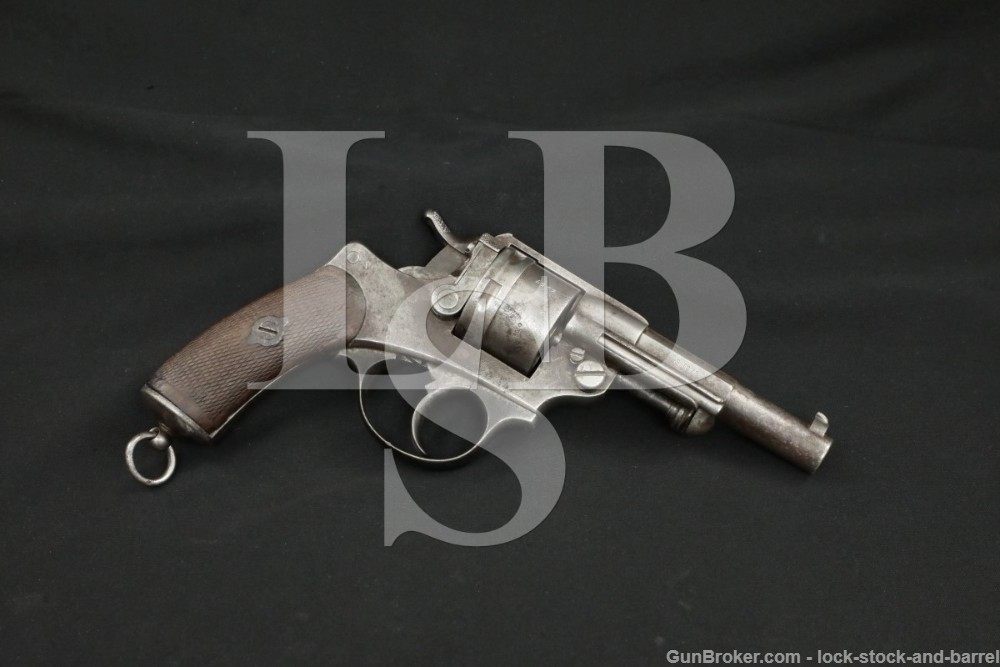 French St Etienne Model MLE 1873 Navy 11x17mmR DA/SA Revolver 1878 Antique
