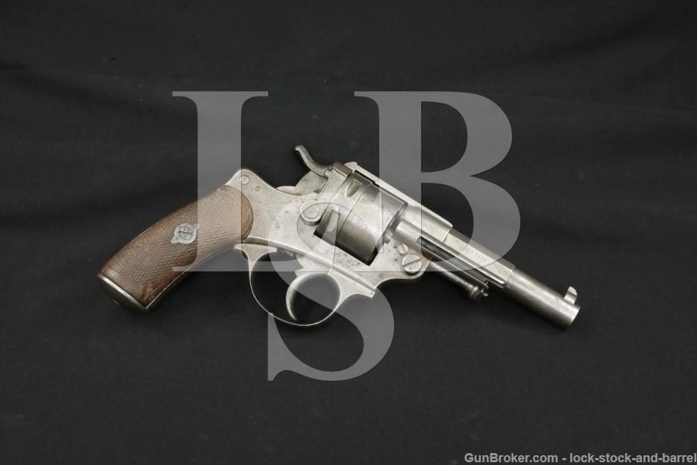 French St. Etienne Model MLE 1873 Army 11x17mmR DA/SA Revolver 1885 Antique