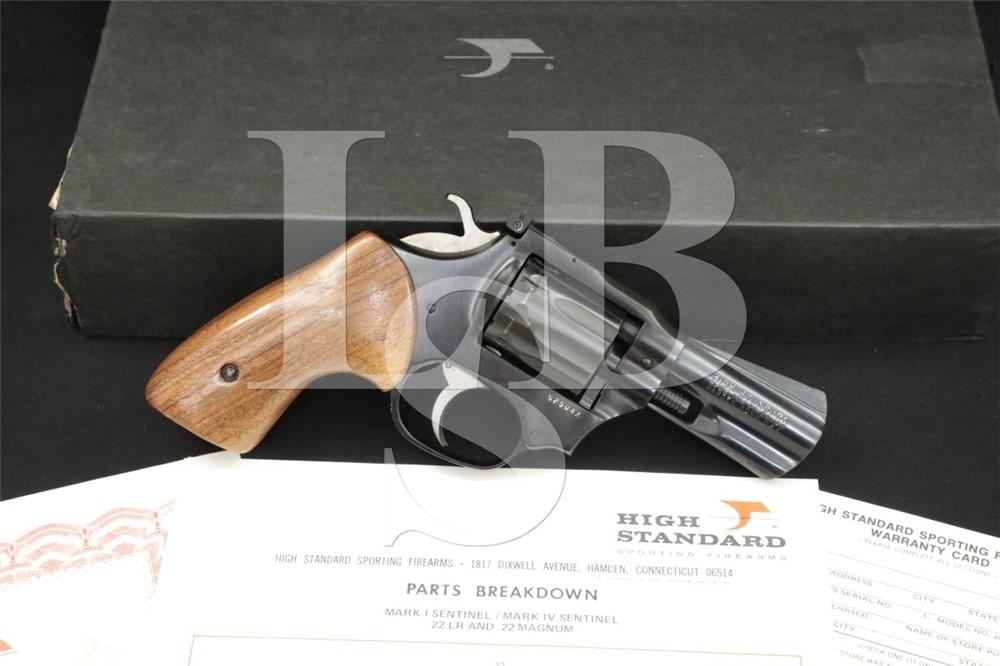 "High Standard Sentinel Mark IV .22 WMR 3"" SA/DA 9-Shot Revolver, MFD 1975"
