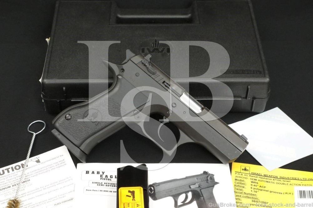 """Israel Weapons Industries IWI Baby Eagle 45 ACP 3.93"""" Semi-Auto Pistol 2007"""