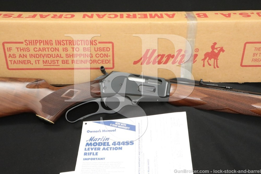 """Marlin Firearms Co. Model 444SS .444 22"""" JM Marked Lever Action Rifle, 1995"""