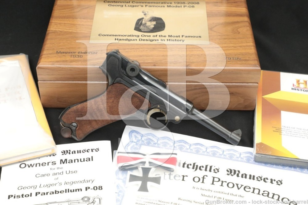 Mitchell's Mauser P.08 Luger Banner Police Marked 9mm Semi-Auto Pistol, C&R