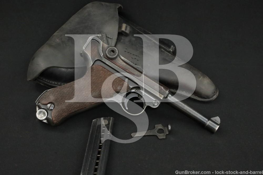 Pre-WWII Mauser S/42 S42 P.08 P08 Luger 9mm Semi-Automatic Pistol, 1939 C&R