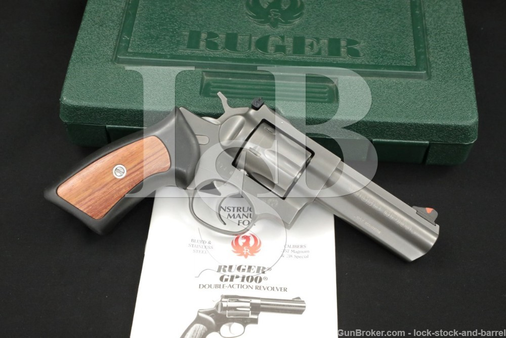 """Ruger GP100 .357 Mag 4"""" Target Grey Stainless Revolver & Box MFD 2003"""