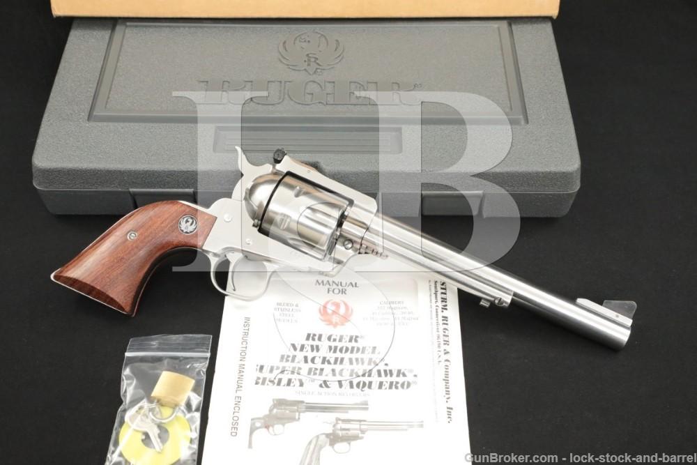 Ruger New Model Blackhawk 00453 GKBN-45 .45 LC Stainless Revolver, MFD 1997
