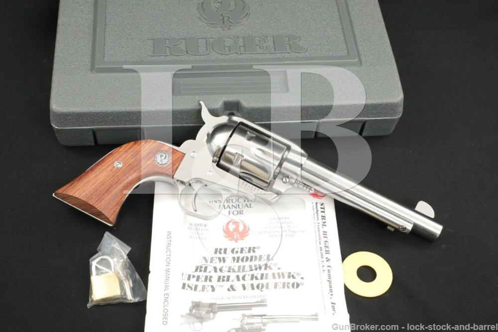 Ruger Old Model Vaquero 00054 .44-40 Winchester Mag Stainless Revolver 1996