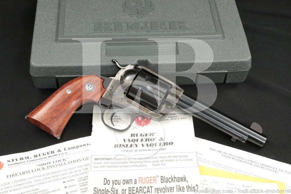 Ruger Vaquero Bisley 00532 RBNV-455-I .45 Colt Case Color Revolver MFD 2001