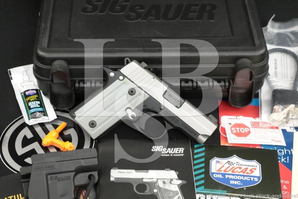 SIG Sauer P238 P-238 P 238 .380 ACP Semi Automatic Pistol, Holster & Case