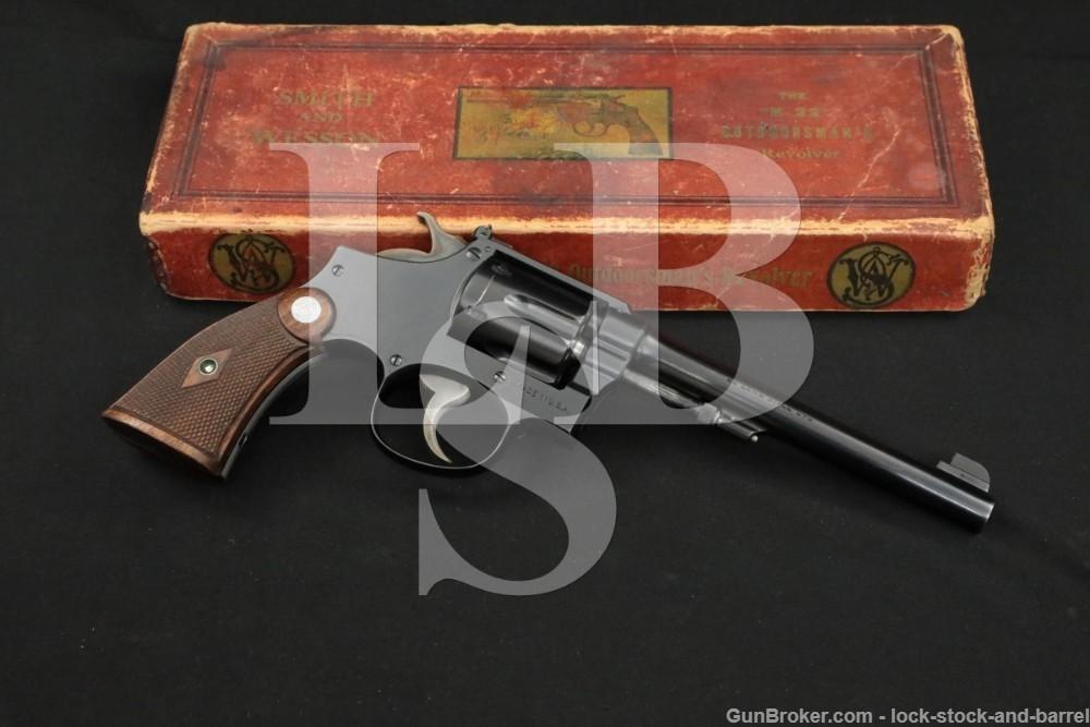 "Smith & Wesson S&W K-22 Outdoorsman .22 LR 6"" DA/SA Revolver 1931-1940 C&R"