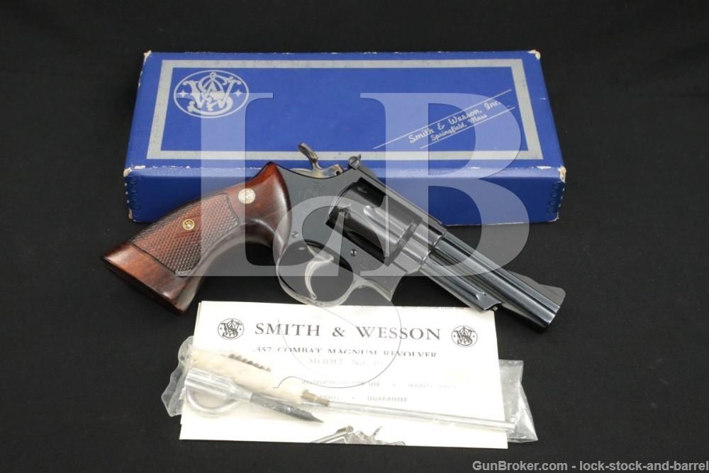 """Smith & Wesson S&W Model 19-1 .357 Combat Magnum 4"""" DA/SA Revolver 1960 C&R"""