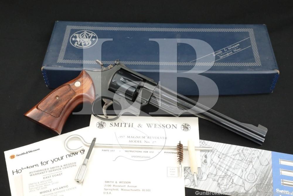 """Smith & Wesson S&W Model 27-2 .357 Magnum 8 3/8"""" DA/SA Revolver, 1979-1980"""