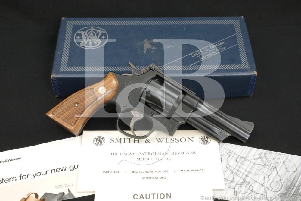 "Smith & Wesson S&W Model 28-2 Highway Patrolman .357 Mag 4"" DA/SA Revolver"