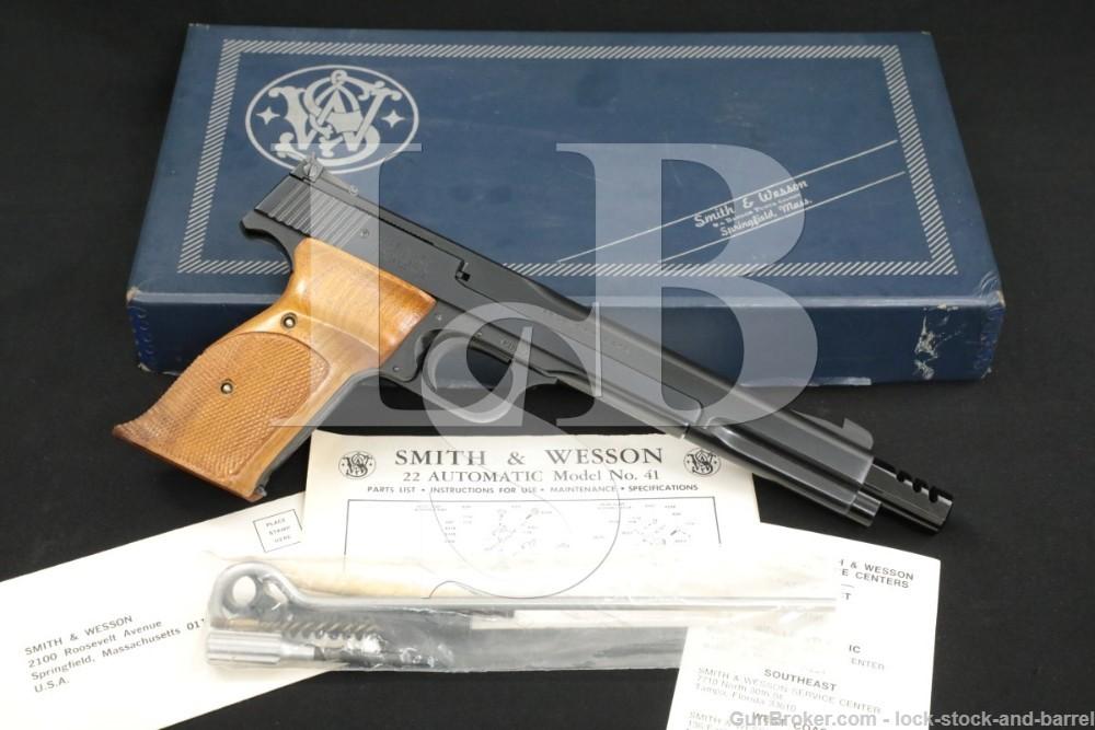 "Smith & Wesson S&W Model 41 .22 LR 7 3/8"" Semi-Automatic Pistol 1976-1977"
