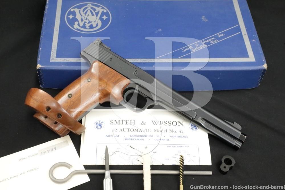 """Smith & Wesson S&W Model 41 .22 LR 7 3/8"""" Semi-Automatic Rimfire Pistol C&R"""