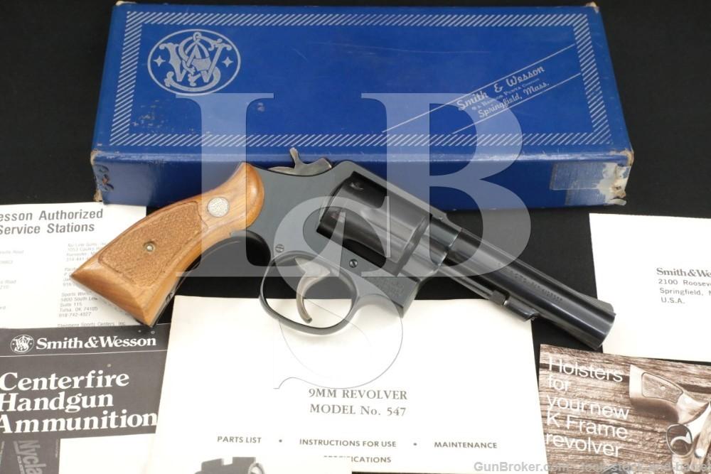 """Smith & Wesson S&W Model 547 Military & Police 9mm 4"""" DA/SA Revolver 1981"""