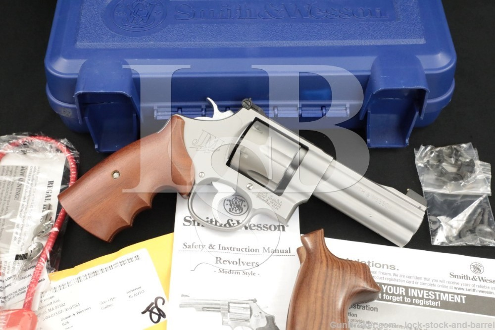 """Smith & Wesson S&W Model 625-8 Jerry Miculek 160936 .45 ACP 4"""" Revolver"""