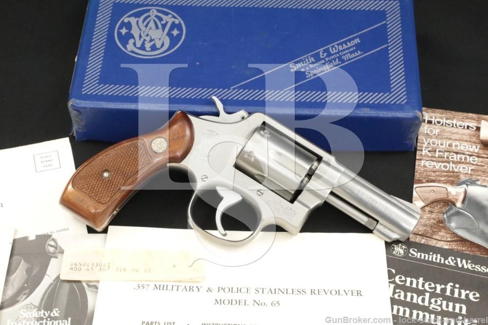 """Smith & Wesson S&W Model 65-2 .357 Mag 3"""" Heavy Barrel DA/SA Revolver 1981"""