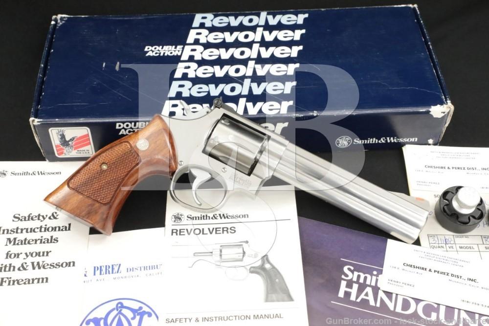 "Smith & Wesson S&W Model 686-M .357 Magnum 6"" DA/SA Revolver MFD 1987"