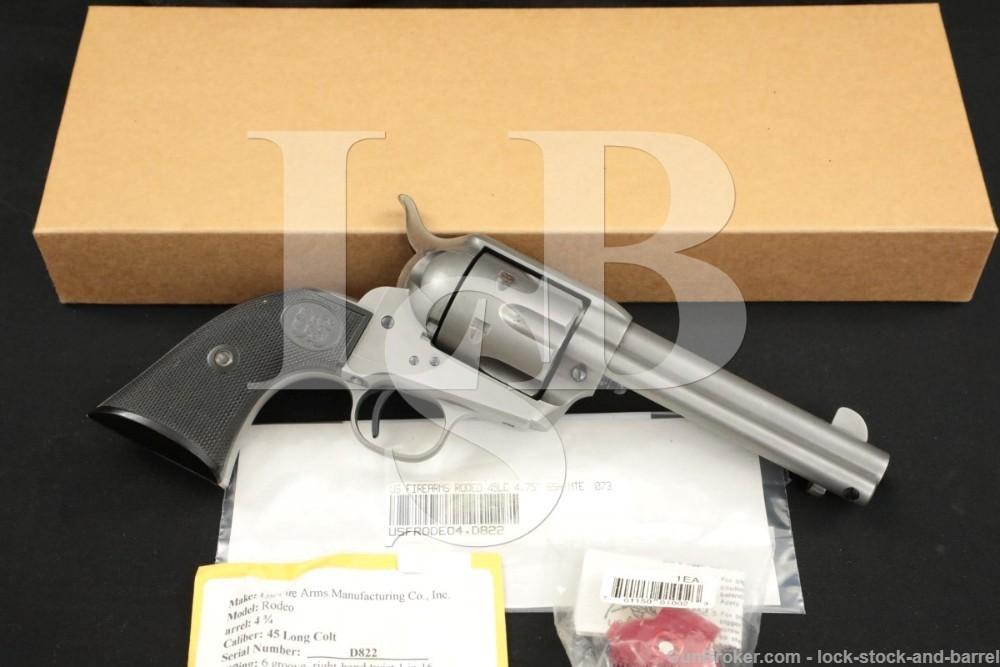 "USFA U.S. Firearms USA Single Action Army SAA Rodeo 4.75"" .45 Colt Revolver"