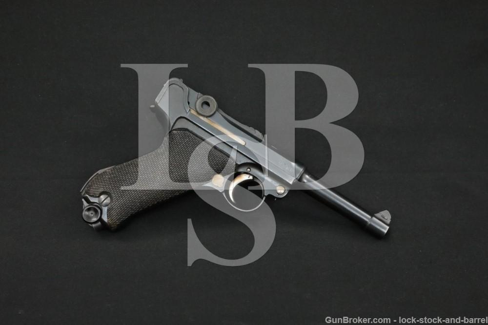 WWI German Erfurt P.08 P08 P-08 Luger 9mm Semi-Automatic Pistol, 1917 C&R