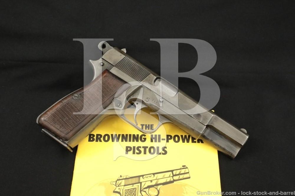 WWII FN Browning Nazi Hi-Power WaA140 9x19 Semi-Automatic Pistol, 1943 C&R